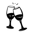 two glasses wine or champagne champagne vector image