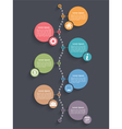 Vertical Timeline Template vector image vector image