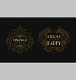 vintage style great party cards collection luxury vector image vector image