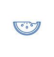 watermelon line icon concept watermelon flat vector image