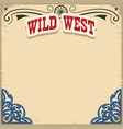 wild west background on old paper texture vector image vector image