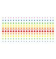wind mill shape halftone spectrum pattern vector image vector image