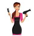 Woman hairdresser portrait vector image