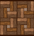 wood brown floor tiles pattern seamless texture vector image vector image