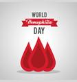 world hemophilia day blood drop medical healthcare vector image