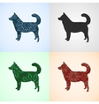 Set from Dog with Mandala Patterns vector image