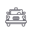 taxi line icon sign on vector image