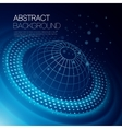 background with glowing space orbit vector image