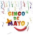 Cinco de Mayo background template vector image