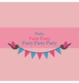 birds holding bunting for party vector image