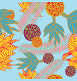 a hand drawn seamless pattern with plants vector image