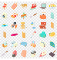appliance icons set cartoon style vector image vector image