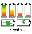 Battery charge icons vector image vector image