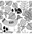 Black and white endless background with nature vector image vector image