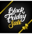 Black Friday Sale hand written lettering with vector image