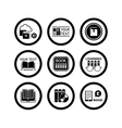 book concept icons vector image vector image