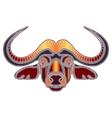 Bright bull portrait zodiac Taurus sign vector image vector image
