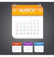 calendar march vector image vector image