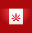 canada flag with marijuana leaf cannabis vector image