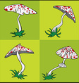 cartoon poisonous amanita mushroom with red dots vector image vector image