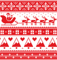 Christmas jumper or sweater seamless red pattern