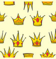 collection crown gold style vector image vector image