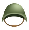 combat helmet mockup realistic style vector image vector image