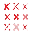 Confirm check marks icons2 vector image
