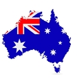 Creative pixel Australia map vector image vector image