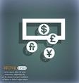 currencies of the world icon symbol on the vector image