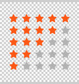 customer review business concept stars rank vector image vector image