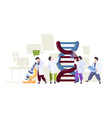 dna technology scientists learning biological vector image vector image