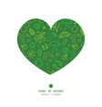 ecology symbols heart silhouette pattern frame vector image
