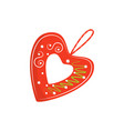 flat icon of bright red licitar heart vector image