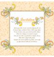 floral design card vector image