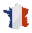 France map silhouette vector image vector image