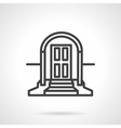 Front door with arch simple line icon vector image vector image