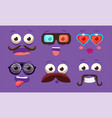 Funny emojis with different emotive feelings set