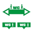 Green plate WC vector image