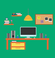 home office workspace vector image