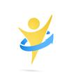 Human perfecting body logo vector image vector image