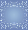 image snowflakes from ornament on a dark vector image vector image