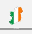 ireland map flag vector image