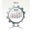 January 2014 - calendar vector image vector image