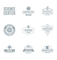 laboratory logo set simple style vector image