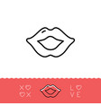 lips icon xoxo - hugs and kisses valentines vector image