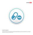 medicine symbol icon - white circle button vector image