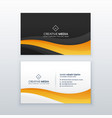modern dark business card design vector image vector image