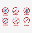 no vaping sign set vector image