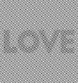 Op art LOVE Optical striped seamless vector image